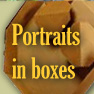 Online art gallery of portraits in cardboard boxes