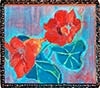 Still life painting, Nasturtiums in box, Nice, by Patricia Kennedy