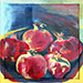 Still life painting, 5 Greek rothia, Nice, by Patricia Kennedy