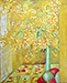 Still life painting, Yellow Corner, Nice, by Patricia Kennedy